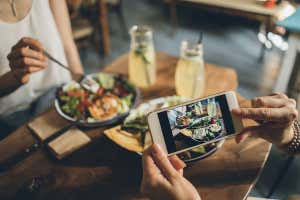 comida siendo fotógrafo